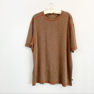 TOMMY BAHAMA T-Shirt SOLID BROWN Tencel Blend